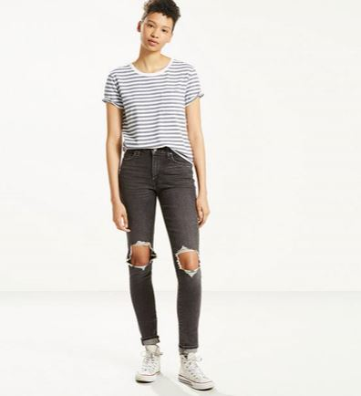 Levi's 721 High Rise Skinny Jeans from the WaterLess Collection, $89.50