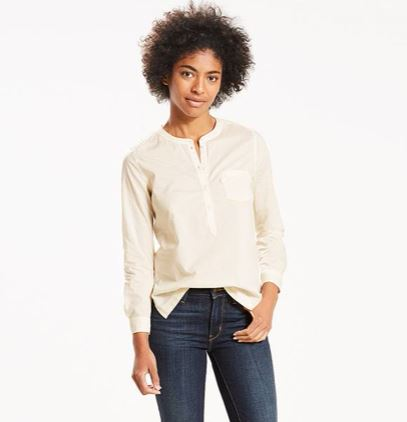 Levi's Classic Popover Shirt from the WaterLess Collection, $54.50
