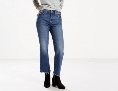Levi's Wedgie Fit Straight Jeans from the WaterLess Collection, $98