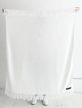 Sackcloth & Ashes Royale White Blanket, $109