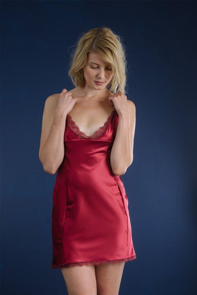 Monroe Ruby Satin Slip, £74 Photo Credit: Luva Huva