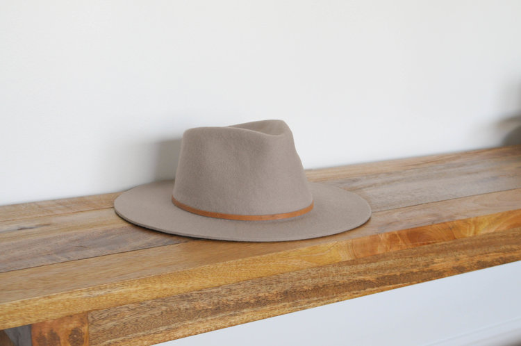 Equal Uprise The Straight Brim in Taupe, $80, Photo Cred: Equal Uprise