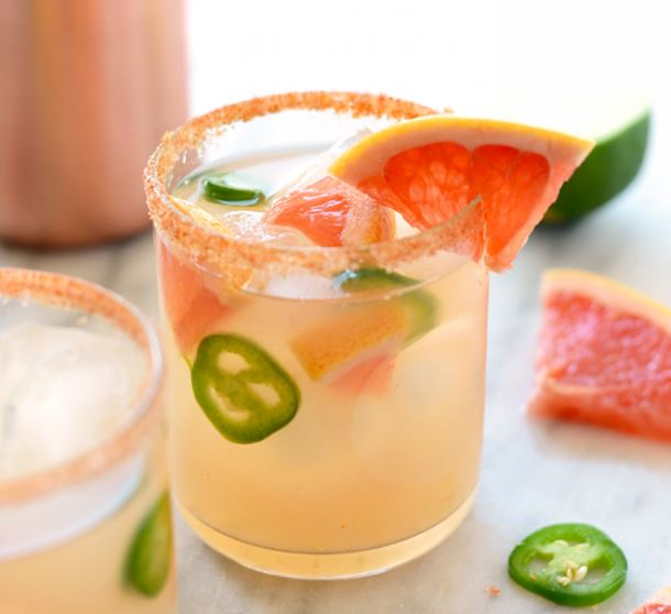 Spicy Grapefruit Margarita, Photo Cred: Fit Foodie Finds