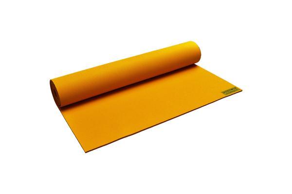 JadeYoga Harmony Yoga Mat in Saffron, $77.50 Photo Credit: Jade Yoga
