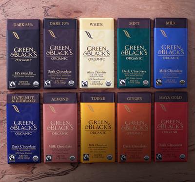Green & Black's Organic Chocolate Line, Photo Credit: Green & Black's