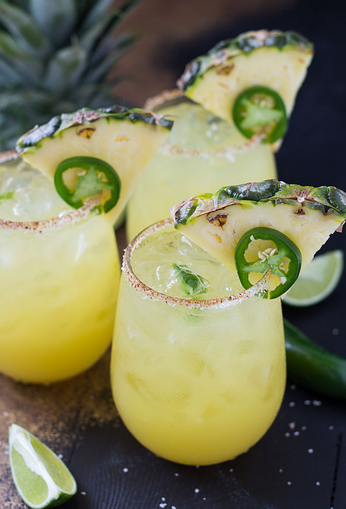 Pinapple Jalepeno Margarita, Photo Cred: The Blond Cook