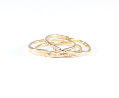 Yellow Gold 3 Ring Mini Stack from Lemonde Handmade, $67.50, Photo Cred: Lemonade Handmade
