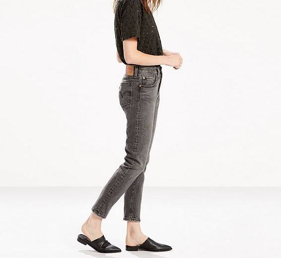 Levi's 501 Skinny Jeans in Black Coast, $98, Photo Cred: Levi's