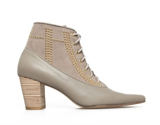 Nicora Wynonna Studded Ankle Boot in Sand, $464, Photo Cred: Nicora