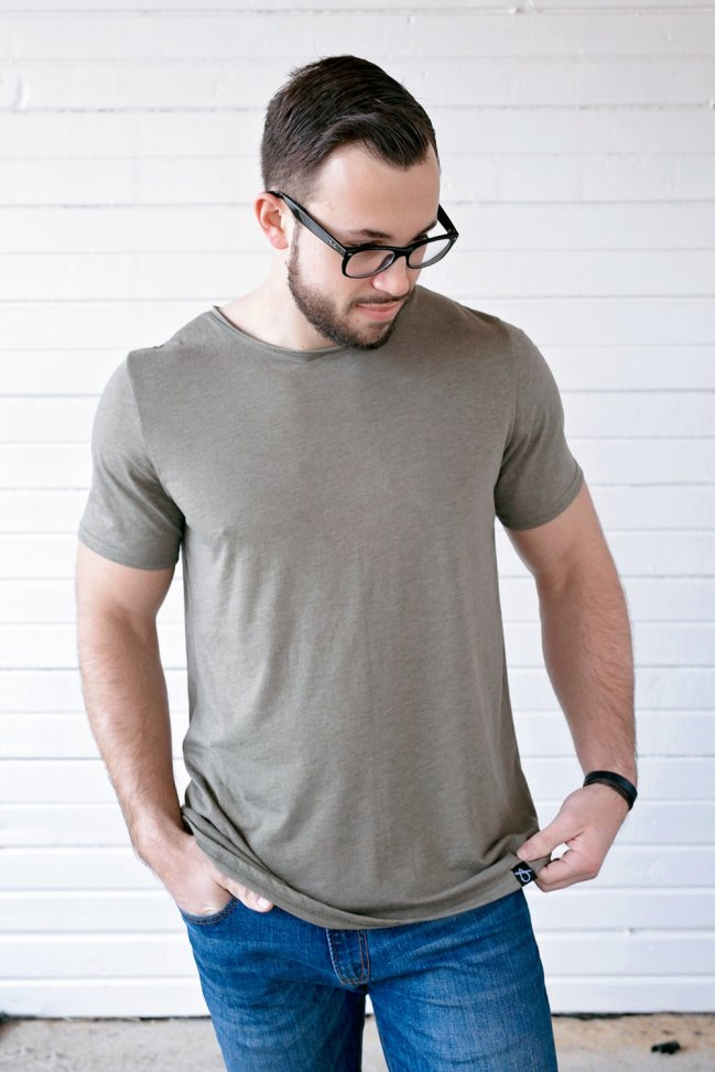 Threading Water Men's Triblend Raw Neck Tee $32.98, Photo Cred: Threading Water