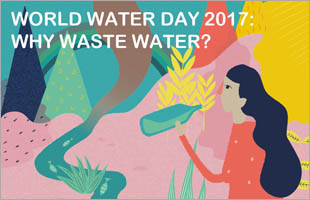 World Water Day 2017 - Why Waste Water? Photo Cred: World Water Day