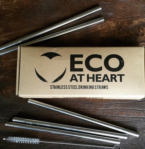 Eco at Heart Stainless Steel Reusable Straws, 5 for $24.90, Photo Cred: Eco at Heart