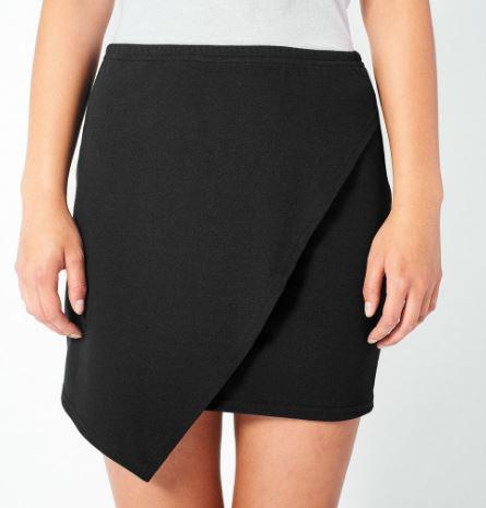 AEON ROW Black Drape Skirt, $58, Photo Cred: Aeon Row
