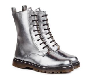 Beyond Skin Metal Grey Frida Boots, $185, Photo Cred: Beyond Skin