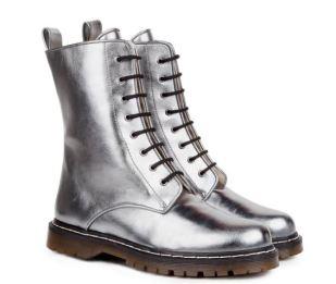 Beyond Skin Metal Grey Frida Boots, $185, Photo Cred: Beyond Skin
