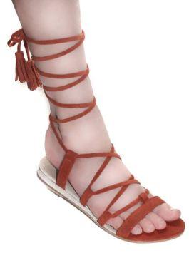 Bhava Studio Carmen Lace-Up Sandal, $125, Photo Cred: Bhava Studio