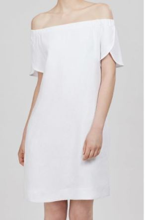 Cuyana Linen Off-The-Shoulder Dress, $175
