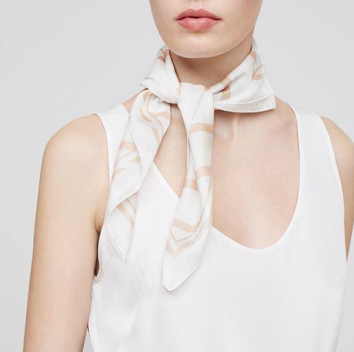 Cuyana Silk Striped Scarf, $45, Photo Cred: Cuyana