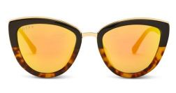 DIFF Charitable Eyewear Rose - Two Tone - Gold Mirror Polarized Lens, $85, Photo Cred: DIFF