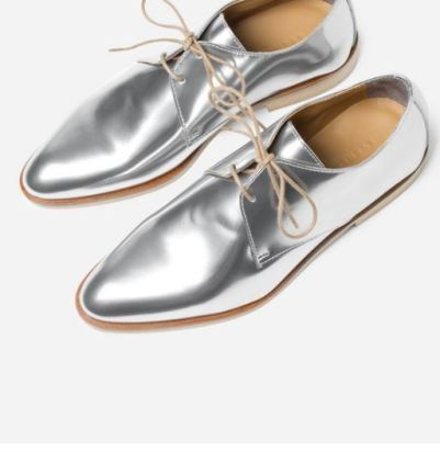 Everlane E2 Modern Oxford Silvershine, $185
