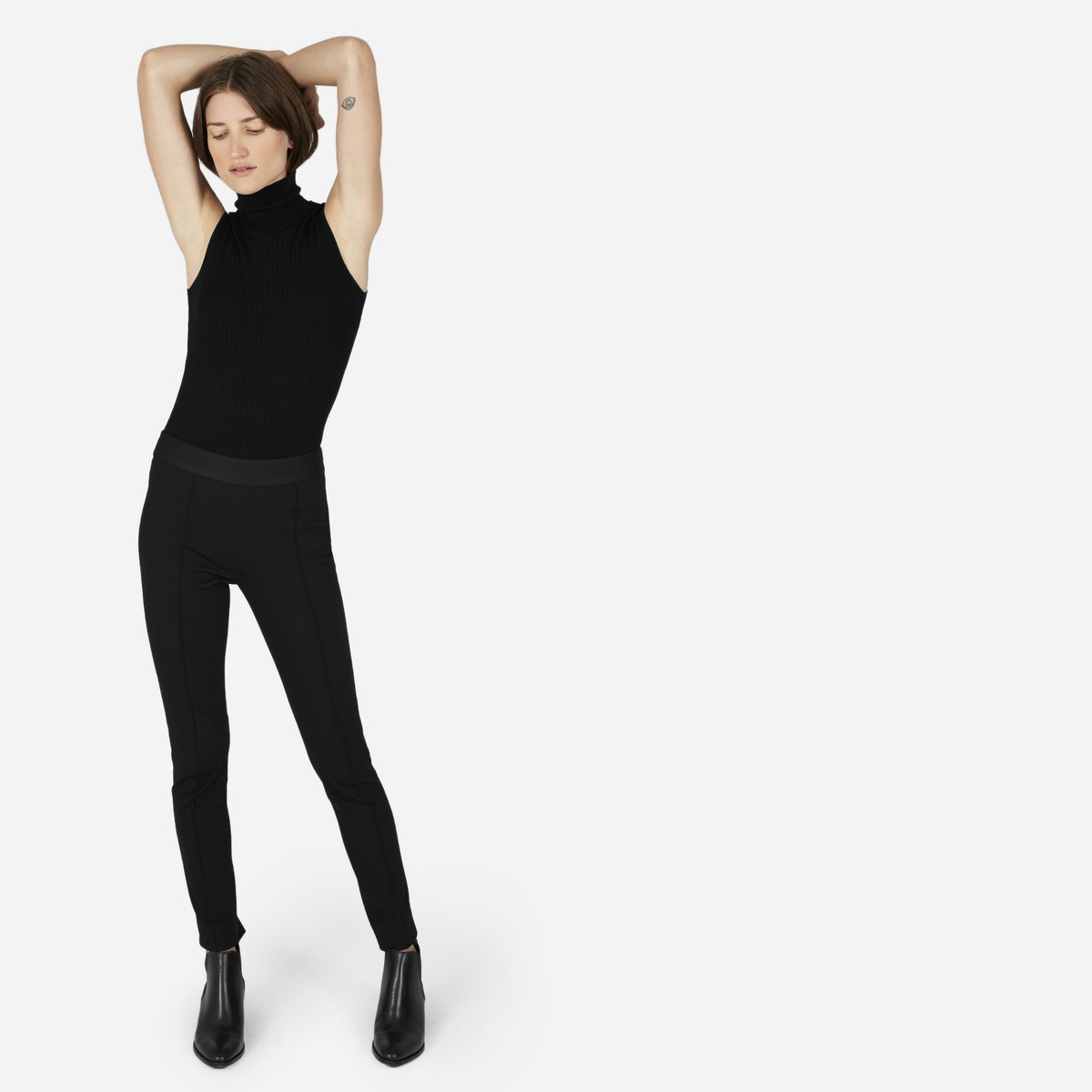 Everlane The Stretch Ponte Skinny Pant, $78, Photo Cred: Everlane