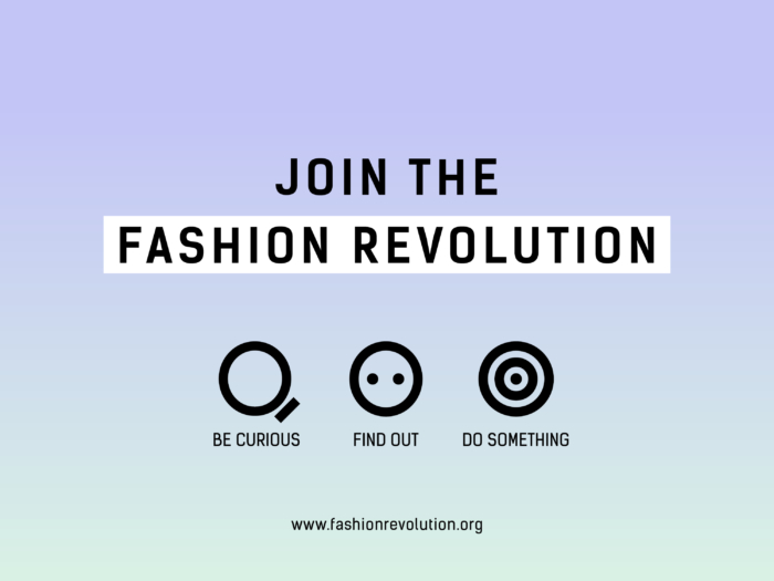 Join the Revolution, Photo Cred: Fashion Revolution