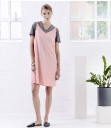 Jann June's Triangle Peach Slip Dress