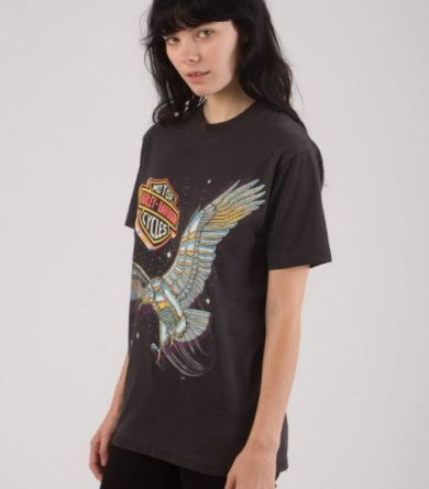 Kelly Cole Vintage 1980s Harley Davidson Chrom Eagle T Shirt, $125