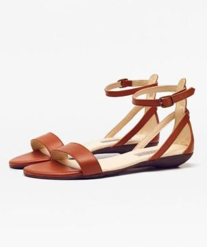 Nisolo Serena Sandal in Caramel, $108, Photo Cred: Nisolo