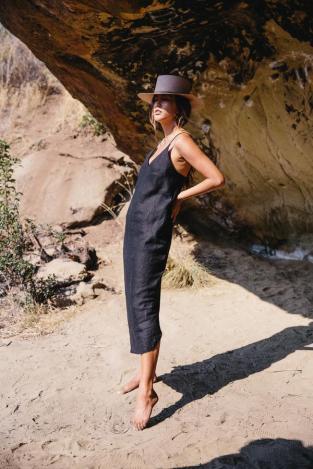Ozma Linen Slip Dress, $185
