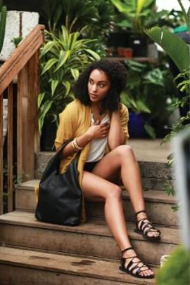 Sseko Designs Black Leather Wrap Sandal, $69.99, Photo Cred Sseko