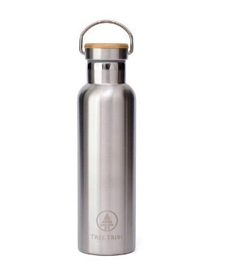 Tree Tribe 20 oz. Eco Water Bottle Stainless Steel Double Walled, $25
