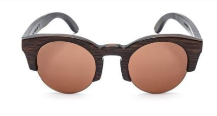 Tree Tribe Cat Eye Bamboo Sunglasses Brown Frame Brown Lens, $64