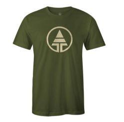 Tree Tribe Logo T-Shirt Hemp & Organic Cotton - Forest Green, $28