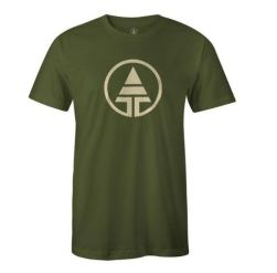 Tree Tribe Logo T-Shirt Hemp & Organic Cotton - Forest Green, $28