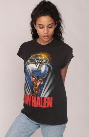 Van Halen Shirt 80s Band T Shirt 1986 5150 Tour TShirt Heavy Metal Black Concert Tee Vintage Rock Medium, $95, from ShopExile on Etsy
