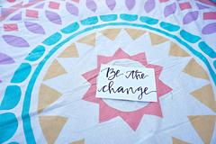 Be the Change Postcard from KLoveGifts & TaylarMade, Photo Cred: Change Co.
