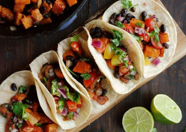 Butternut Squash and Black Bean Tacos from Kale Yeah, It's Vegan