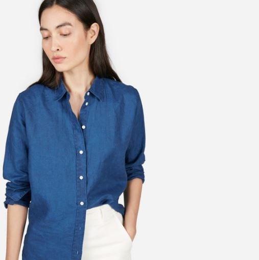 Everlane The Relaxed Linen Shirt, $55, Photo Cred: Everlane