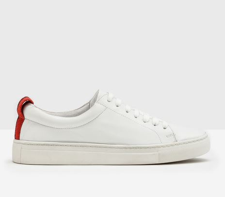 Hebe Leather Sneaker, $98-$140 from Boden, Photo Cred: Boden