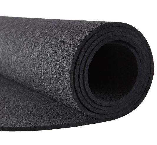Kiss the Sky Yoga Mats Black Oval 72 in. Mat, $79, Photo Cred: Kiss the Sky