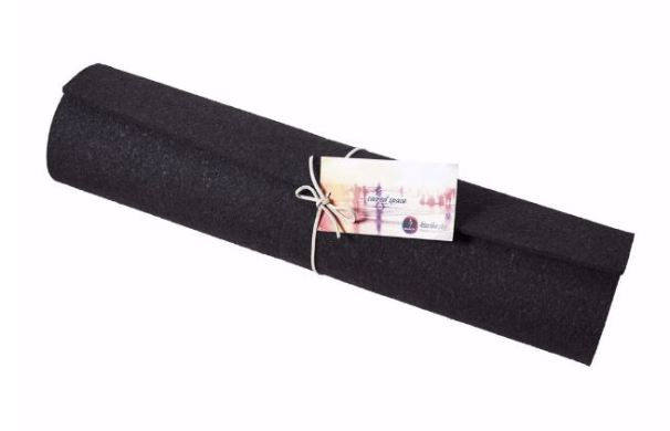 Kiss the Sky Yoga Mats Black Rectangle 74in Mat, $79, Photo Cred: Kiss the Sky