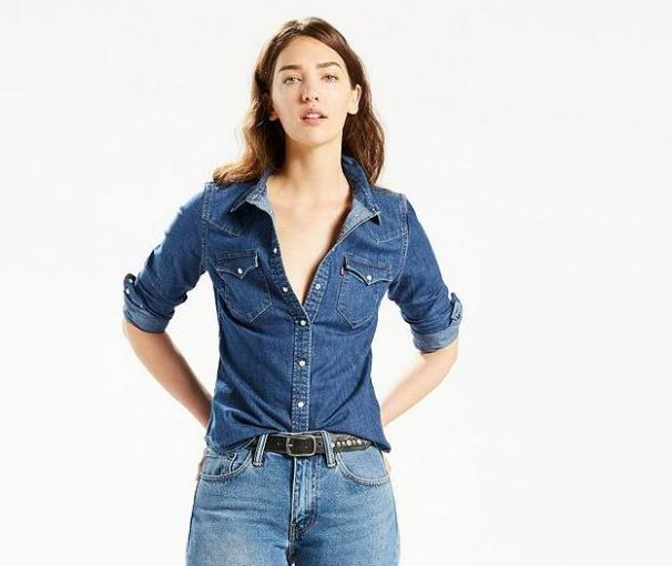 Levis Tailored Western Shirt in Vintage Medium, $54.50, Photo Cred: Levis