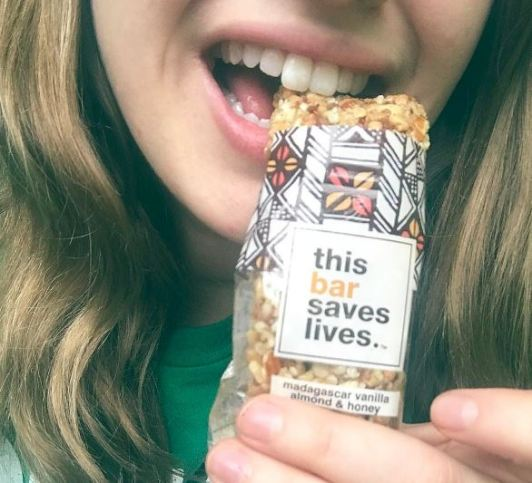 Madagascar Vanilla Almond & Honey Bar from this bar saves lives, Photo Cred: Change Co.