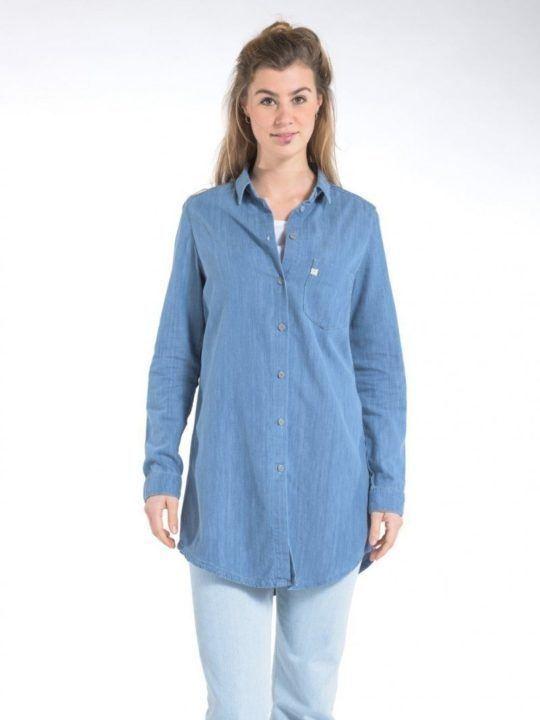 Mud Jeans Kim Long - Denim Shirt, €98.00, Photo Cred Mud Jeans