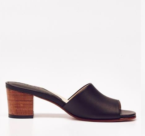 Nisolo Elizabeth Slide Noir, $158, Photo Cred: Nisolo