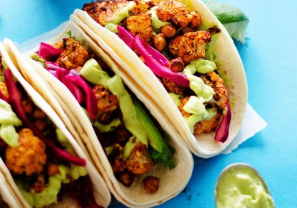 Roasted Cauliflower Street Tacos from Live, Eat, Learn