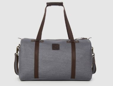 Nobad GD - Gray Denim Duffel Bag, $109.95, Photo Cred: Rust & Fray