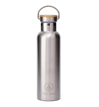 Stainless Steel-Bamboo Water Bottle from Tree Tribe, Photo Cred: Tree Tribe