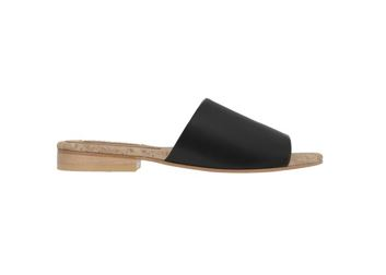 Sydney Brown Shoes Flat Slide in Black, $210, Photo Cred: Sydney Brown Shoes